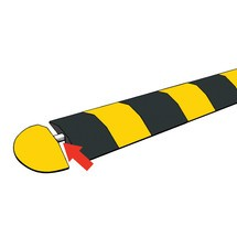 Alignment bar for speed bumps