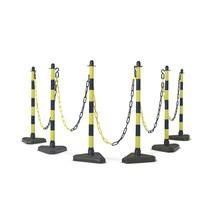 Chain posts set, plastic base