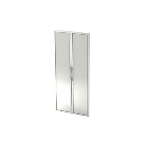 1 Paar Glastüren für Regal Basic, Maße 80 x 1,6 x 184 cm
