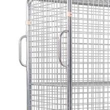 2 Griffe für Stahl-Rollbehälter in Euro-maß