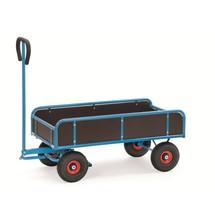 2-nápravový ruční vozík fetra® se 4 pevnými stěnami