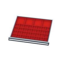 21 bakjes en afstandsrails voor laden, BxD mm 500x450 mm