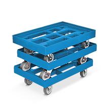 3er Set: Transportroller aus PE für Eurokästen, Tragkraft 300 kg