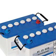 4x Batterie 6V, wartungsfrei für Aufsitz-Scheuer-Saugmaschine SCRUBTEC R 466