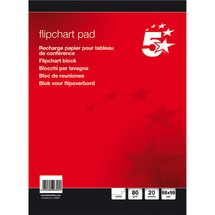 5 Star Flipchart-Blöcke