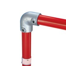 90°-elleboogverbinding voor het buisverbindingssysteem Kee Klamp®
