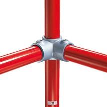 90°-hoekverbinding met doorgang voor het buisverbindingssysteem Kee Klamp®
