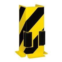 Aanrijbescherming met geleidingsrollen, U-profiel
