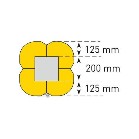 Aanrijbescherming voor pilaren, flexibel
