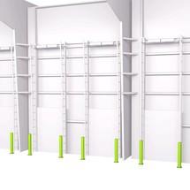 Aanrijbeveiligingspaal kunststof, in 3 hoogte verkrijgbaar: van 600-1200 mm