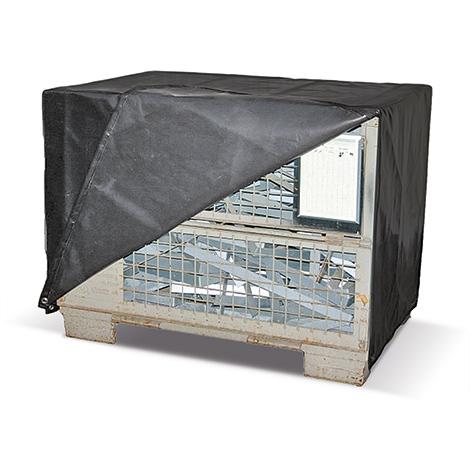 Abdeckhaube aus LKW-Plane mit Reissverschluss für Gitterbox