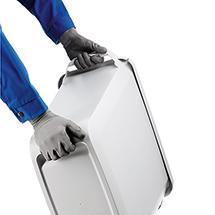 Abfall- und Wertstoffbehälter DURABIN. Fassungsvermögen 60 Liter.