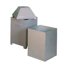 Abfallbehälter AB 100, Stahlblech, hellsilber