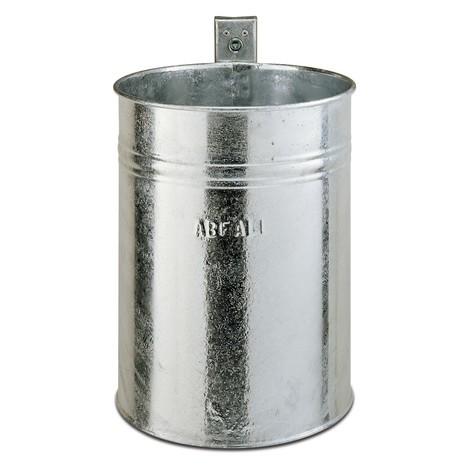 Abfallbehälter aus Stahl, rund, Wandmontage