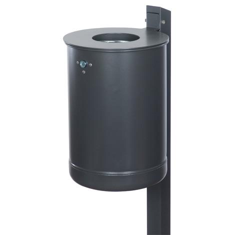 Abfallbehälter FLORENZ 50 Liter, mit Ascher