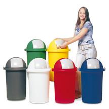 Abfallbehälter mit Einwurfklappe 50 Liter, div. Farben