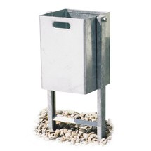 Abfallbehälter, quadratisch, Stahlblech
