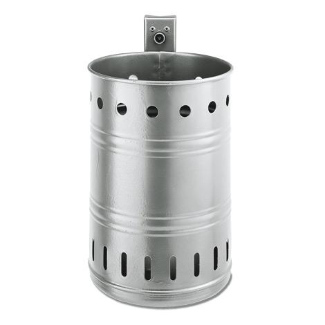 Abfallbehälter RUND, Farbe, 35 l, mit runden Öffnungen