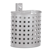 Abfallbehälter RUND, mit Quadratmuster grob, 20 Liter