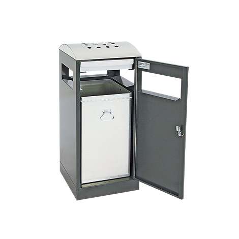 Abfallsammler mit Ascher Premium, Wahlweise 40 oder 90 Liter