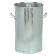 Abfallsammler mit Tragegriffen, Stahlblech, feuerverzinkt, ohne Deckel