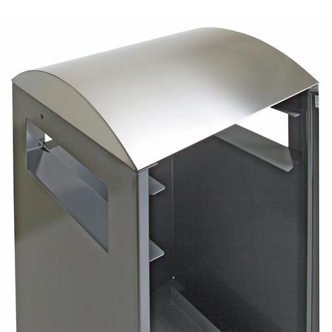 Abfallsammler Premium aus Stahl, mit Ascher