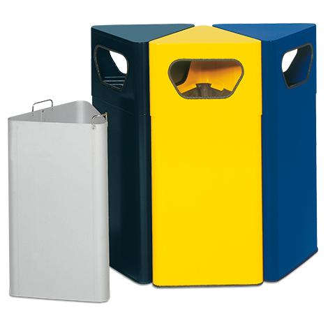 Abfallsammler VARIO, 50 Liter, dreieckig, div. Farben