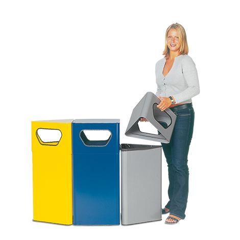 Abfallsammler VARIO, 70 Liter, dreieckig, div. Farben
