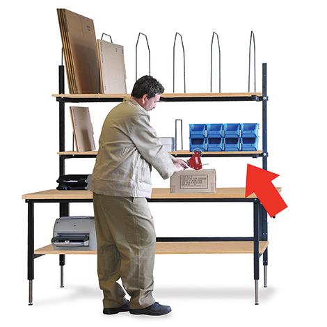 Ablage für Packtischsystem Ameise ®, 1770x400mm