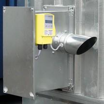 Abluftüberwachung für Brandschutzcontainer F90 und Brandschutzlager