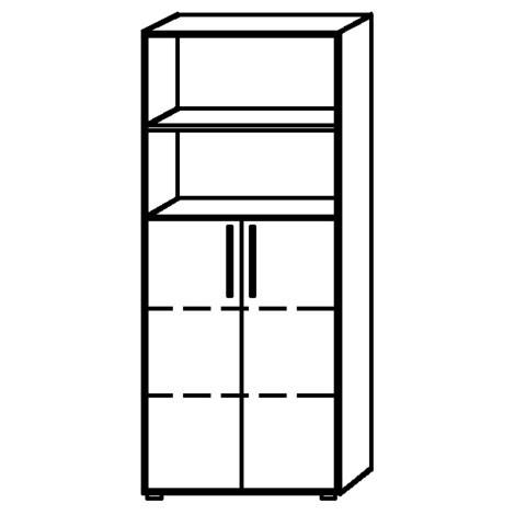 Acento estante inferior, 2 puertas cortas debajo