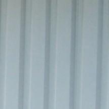 Achterwand, geprofileerd plaatstaal, voor overkapping met hellend dak