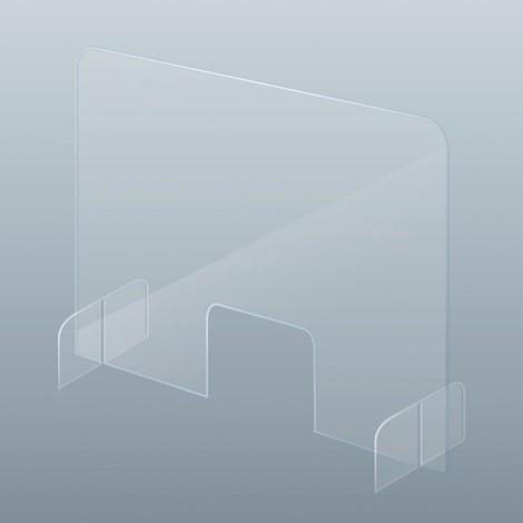 Acrylglas-Thekenaufsteller gegen Tröpfcheninfektion