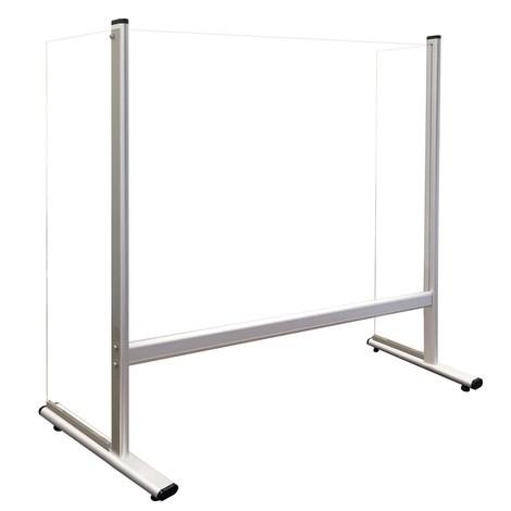 Acrylglas-Thekenaufsteller mit Seitenwänden, Aluminiumrahmen