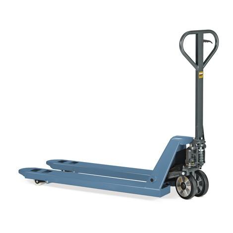 Actiemodel handpalletwagen, capaciteit 2.000 kg, vorklengte 1.150 mm, massief rubber/nylon, enkelvoudige wielen
