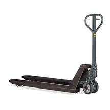 Actiemodel handtranspallet, capaciteit 2.000 kg, vorklengte 1.150 mm, massief rubber/nylon, enkelvoudige wielen