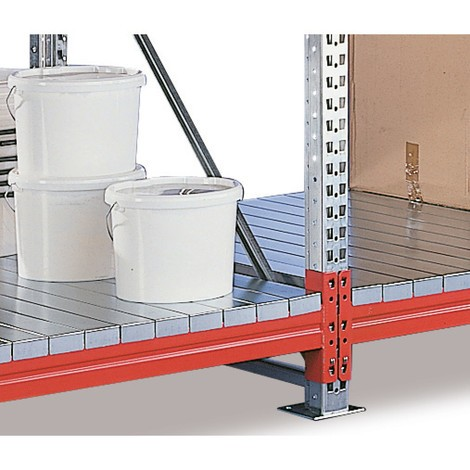 Additional level for META wide-span rack, with steel panels