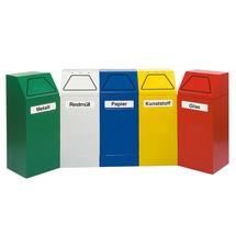 Affaldssorteringsbeholder stumpf®, af pulverlakeret stål