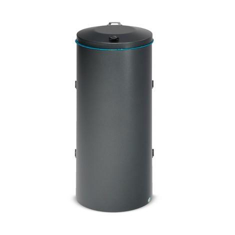 Affaldssorteringsbeholder VAR®, 120 liter, dobbeltlåge, af galvaniseret og pulverlakeret stål
