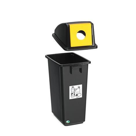 Affaldssorteringsbeholderen VAR®, 58 liter, af PP