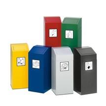 Affaldssorteringsbeholderen VAR®, selvlukkende, af galvaniseret og pulverlakeret stål
