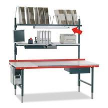 Aflegbord voor documenten metaal, bxd 1630x230mm