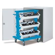 Afsluitbare kast voor CNC-gereedschapswagen, lichtgrijs