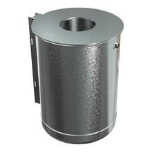Afvalbak van staal, 50 liter