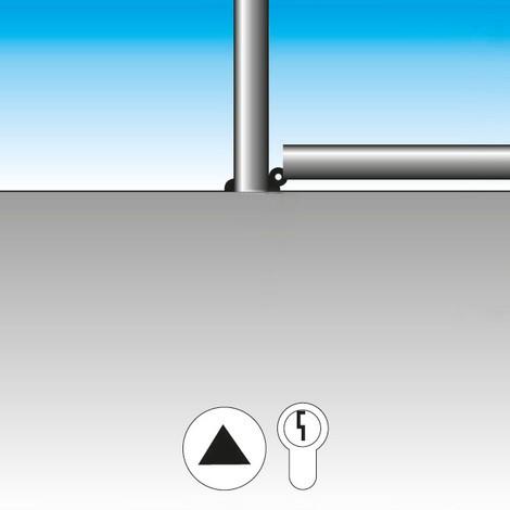 Afzetpaal van roestvrij staal, ronde kop, Ø 76 mm
