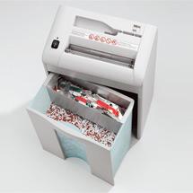 Aktenvernichter mit CD/DVDs/Kreditkarten-Schneidwerk, Auffangvolumen 20+3 Liter