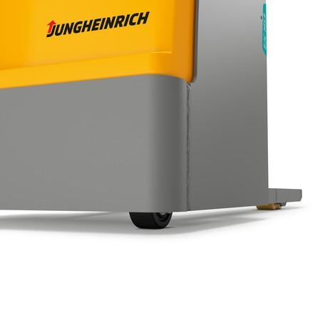 Akumulatorowy wózek podnośnikowy Jungheinrich EJC M13 ZT – podwójny maszt teleskopowy