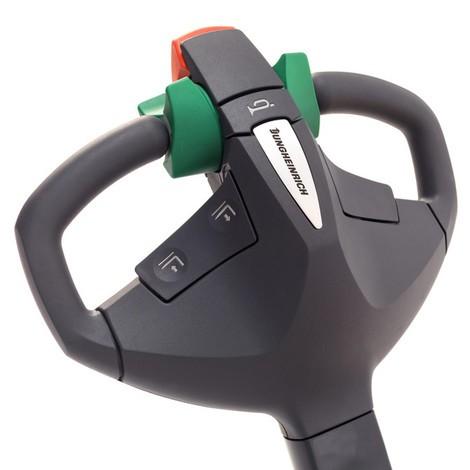 Akumulatorowy wózek podnośnikowy Jungheinrich EMC 110 – maszt pojedynczy