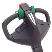 Akumulatorowy wózek podnośnikowy Jungheinrich EMC B10– wersja zszerokim rozstawem ramion podporowych