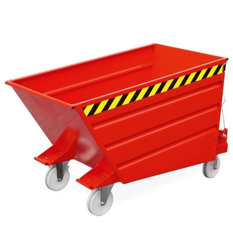 Allestimento ruote per contenitore ribaltabile compatto
